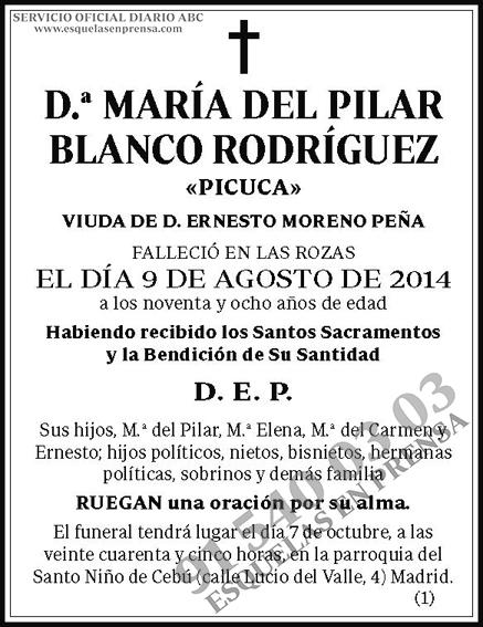 María del Pilar Blanco Rodríguez